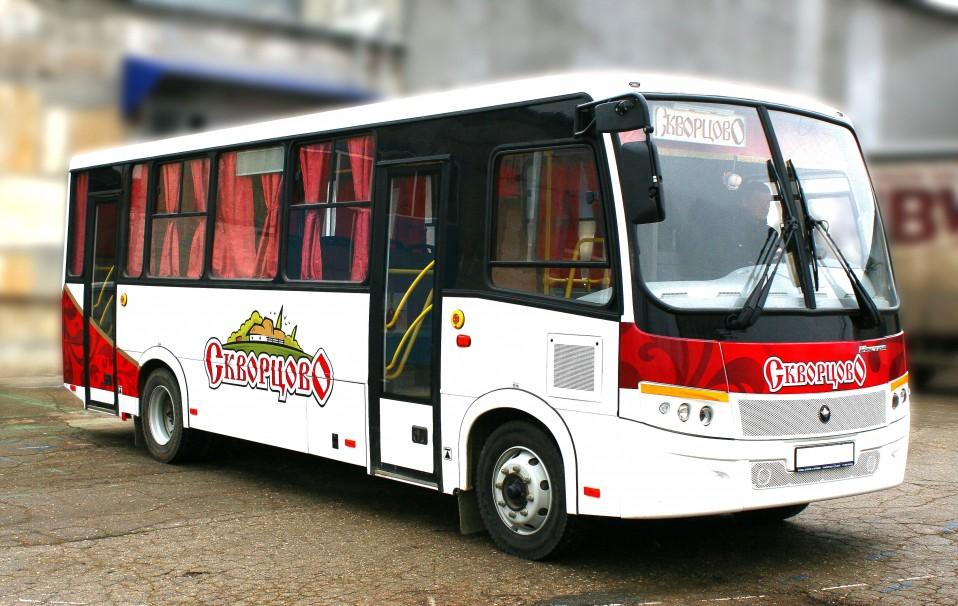 Оклейка авто «Скворцово». Автобус Vector