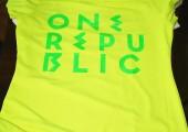 Футболка ONEREPUBLIC жёлтая вид спереди