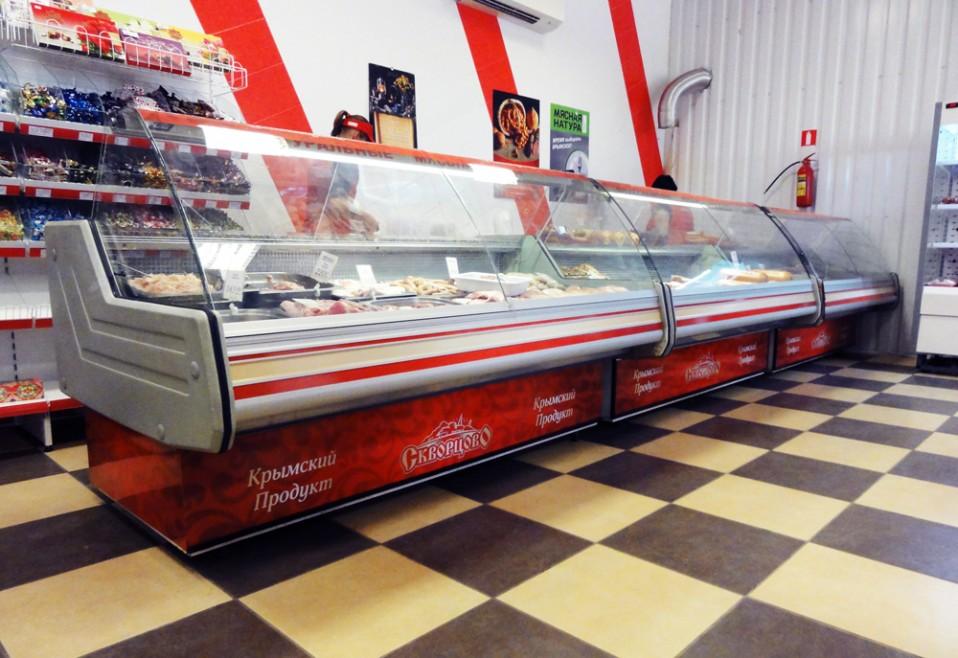 Брендирование холодильных ларей в магазине