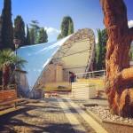 Покрытие сцены летнего кинотеатра гостиницы «Ялта-Интурист»