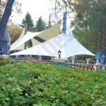 Тентовый навес над детской площадкой, АО «Пансионат с лечением «Донбасс»». г. Ялта, пгт Массандра