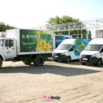 Брендирование автотранспорта компании ПБК 26