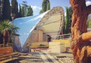 Тентовое покрытие над сценой   «Ялта-Интурист»