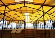 Тентовое покрытие. Гостиница «Санта-Барбара» пгт. Утёс Крым. Вид с объекта