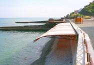 Тентовый навес на пляже. ЖК «Park La Mer (Парк Ля Мер)», г. Алушта, Крым.04