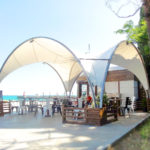 Тентовый навес летнего кафе «Хинкальная №1»